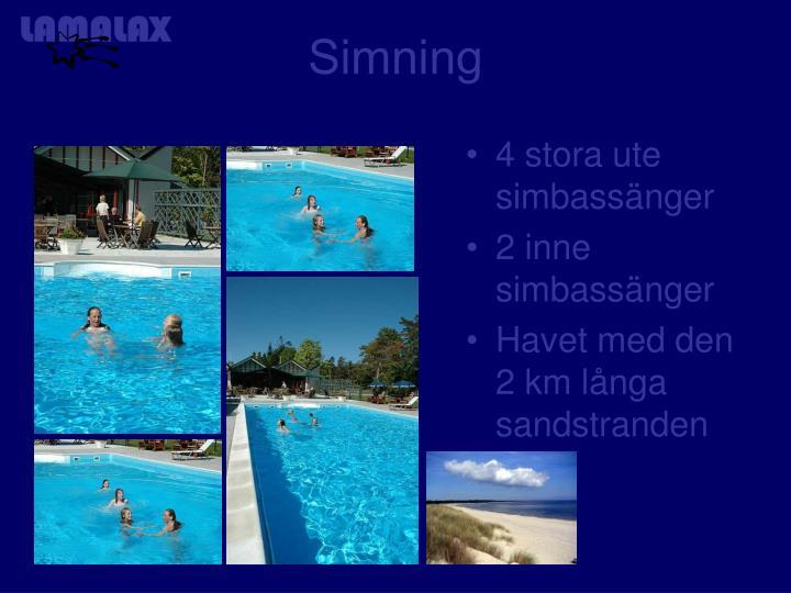 4 stora ute simbassänger
