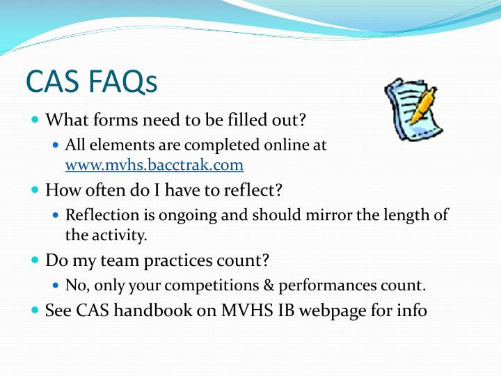 CAS FAQs