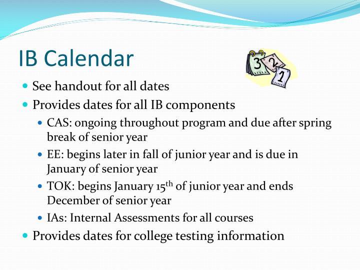 IB Calendar