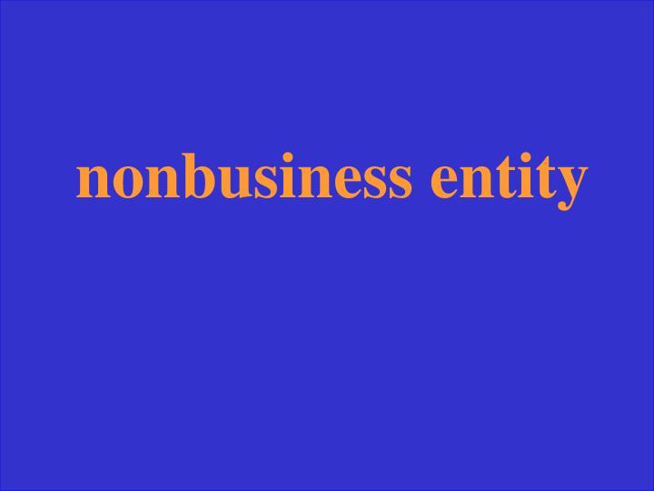 nonbusiness