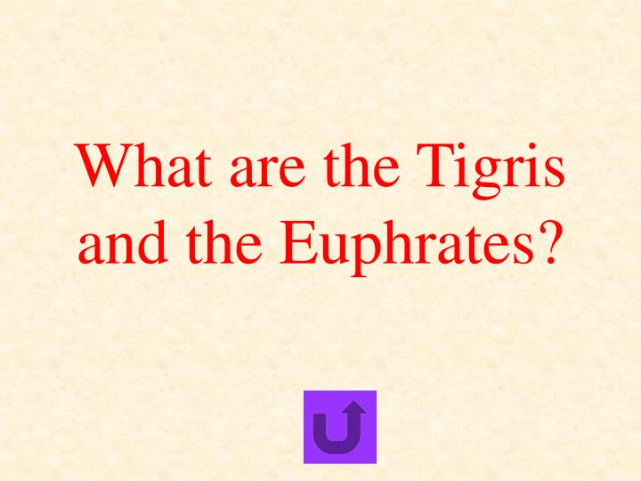 What are the Tigris and the Euphrates?
