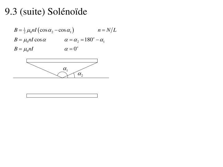 9.3 (suite) Solénoïde