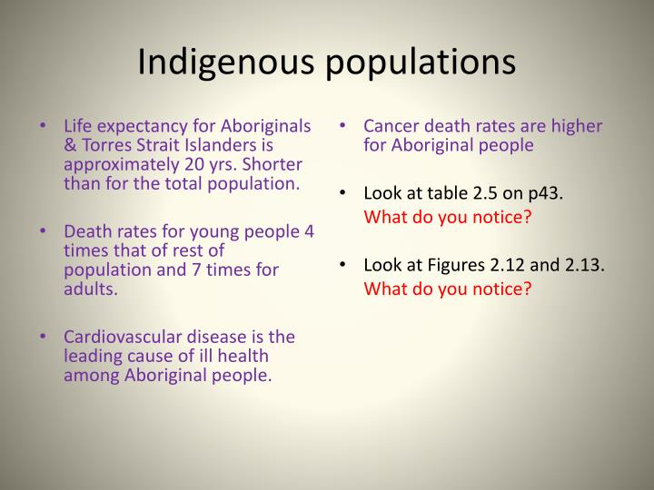 Indigenous populations