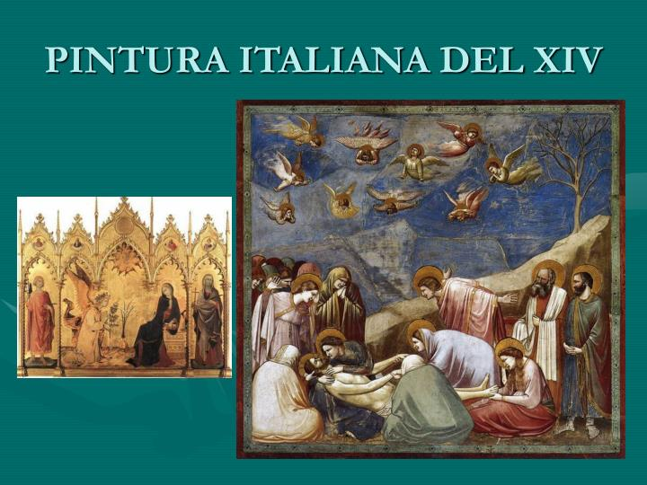 PINTURA ITALIANA DEL XIV
