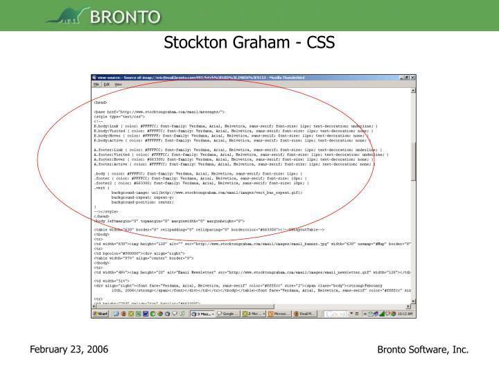 Stockton Graham - CSS