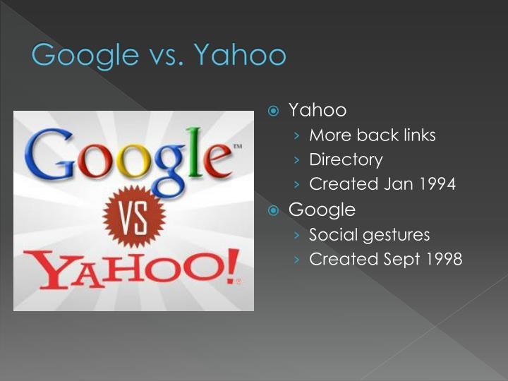 Google vs. Yahoo