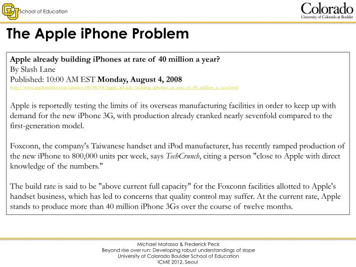 The Apple iPhone Problem