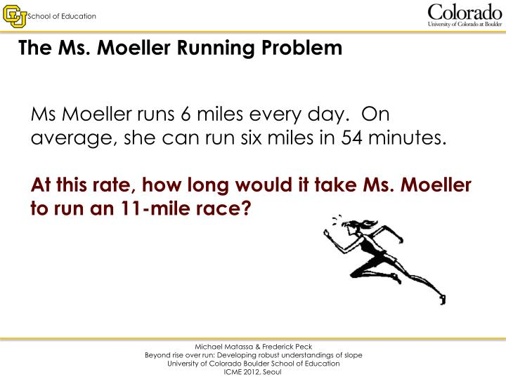 The Ms. Moeller Running Problem