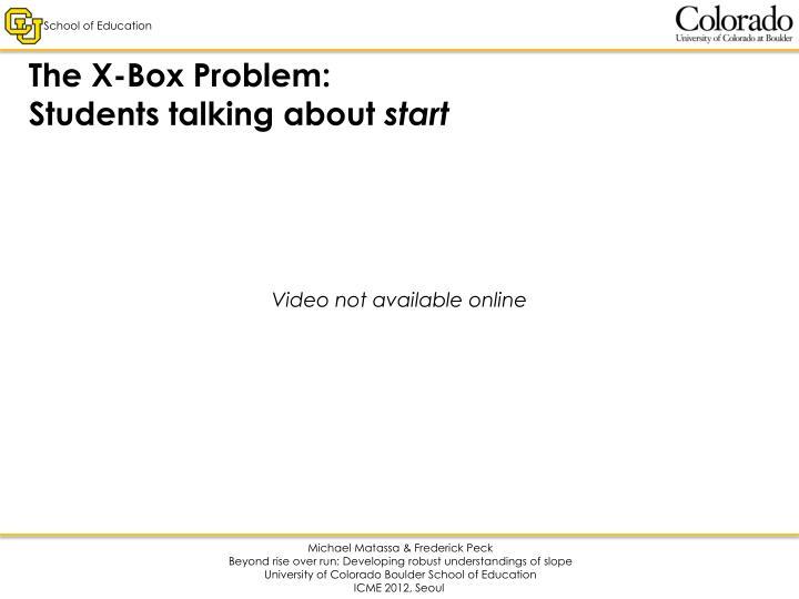 The X-Box Problem:
