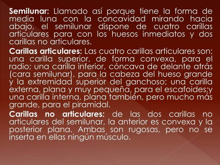 Semilunar: