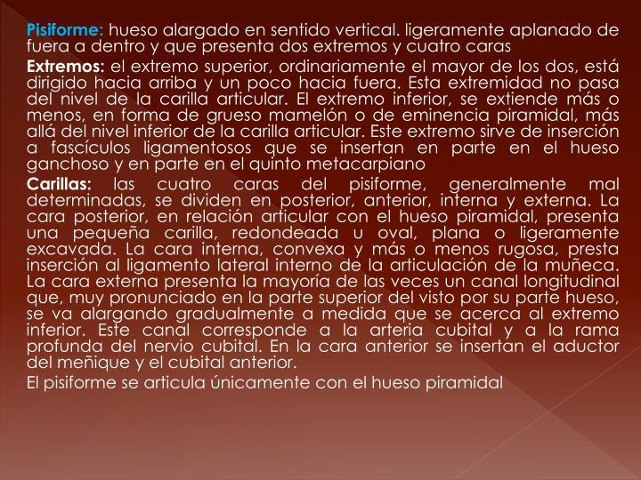 Pisiforme: