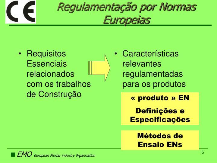 Requisitos Essenciais relacionados com os trabalhos de Construção