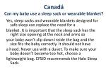 canad can my baby use a sleep sack or wearable blanket