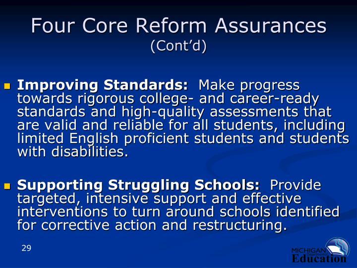 Four Core Reform Assurances