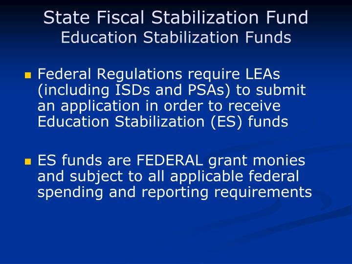 State Fiscal Stabilization Fund