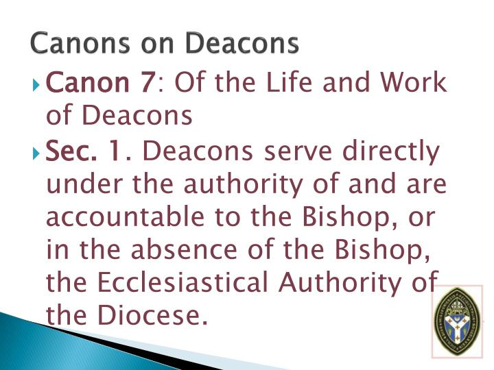 Canons on Deacons