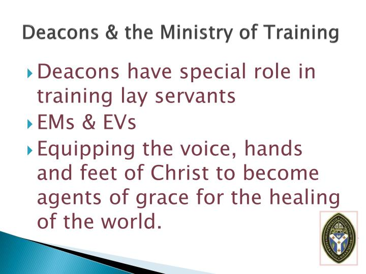 Deacons & the Ministry of Training