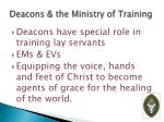 deacons the ministry of training