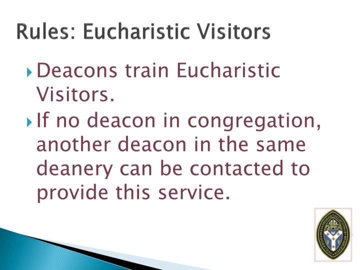 Rules: Eucharistic Visitors