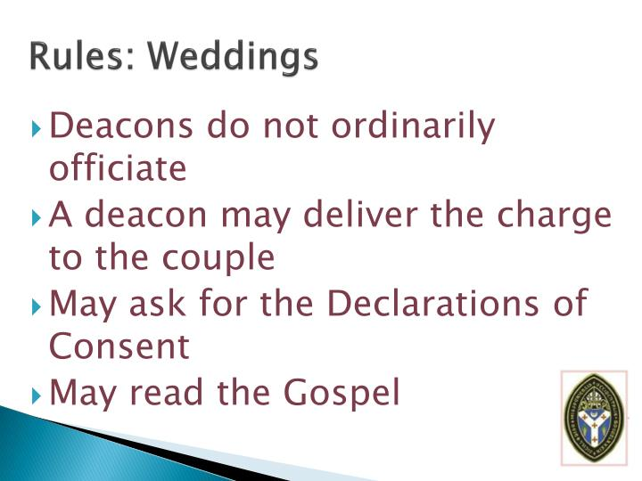 Rules: Weddings