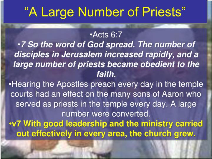 """A Large Number of Priests"""