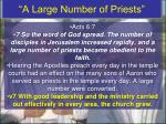 a large number of priests