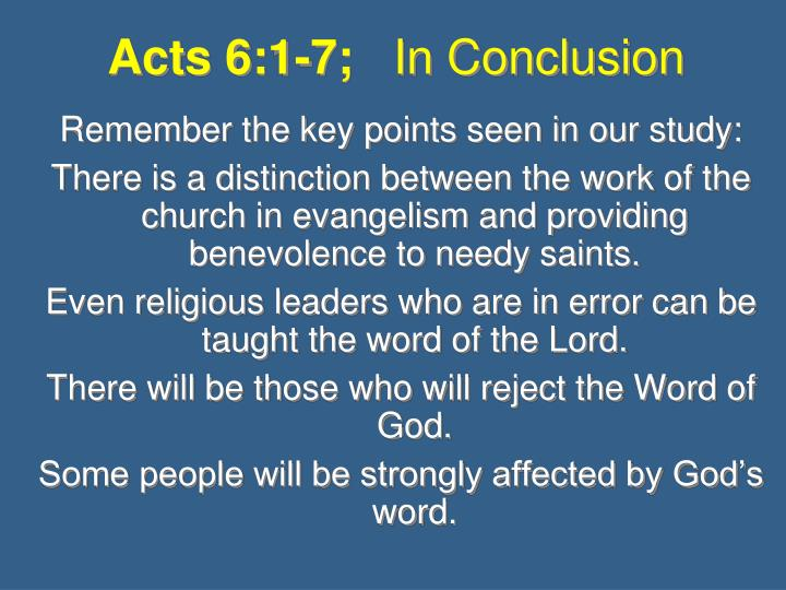 Acts 6:1-7;