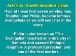 acts 6 5 growth despite division