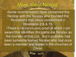 more about nicolas