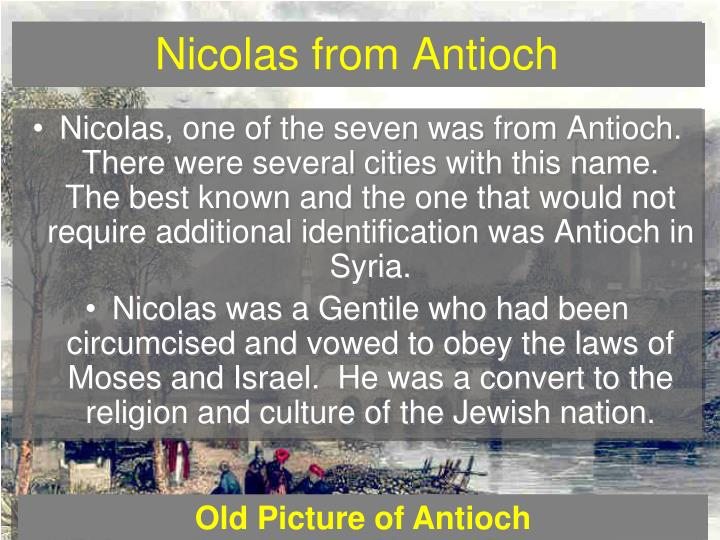 Nicolas from Antioch