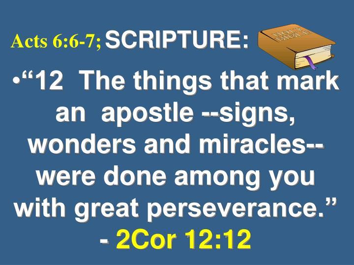 SCRIPTURE: