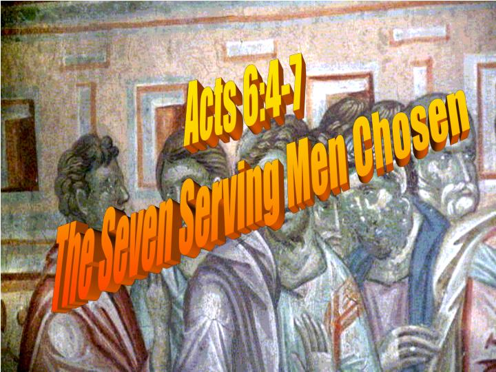 Acts 6:4-7