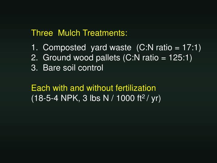 Three  Mulch Treatments: