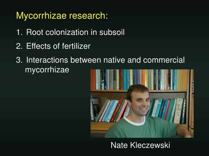 Mycorrhizae research:
