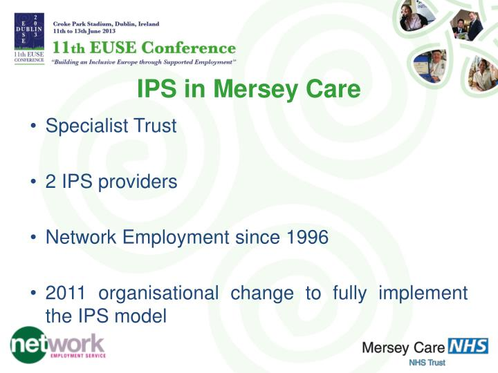IPS in Mersey Care