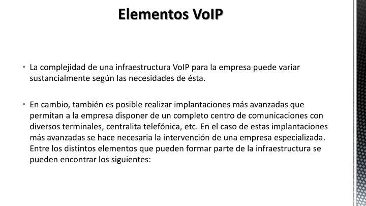 Elementos VoIP