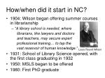 how when did it start in nc