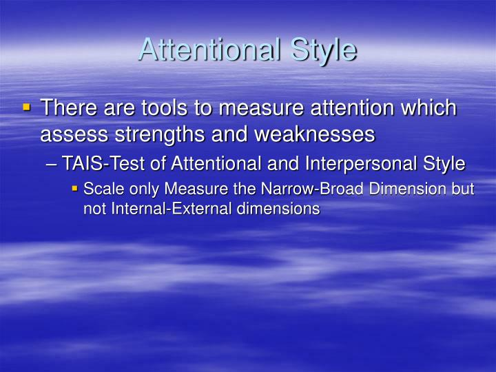 Attentional Style