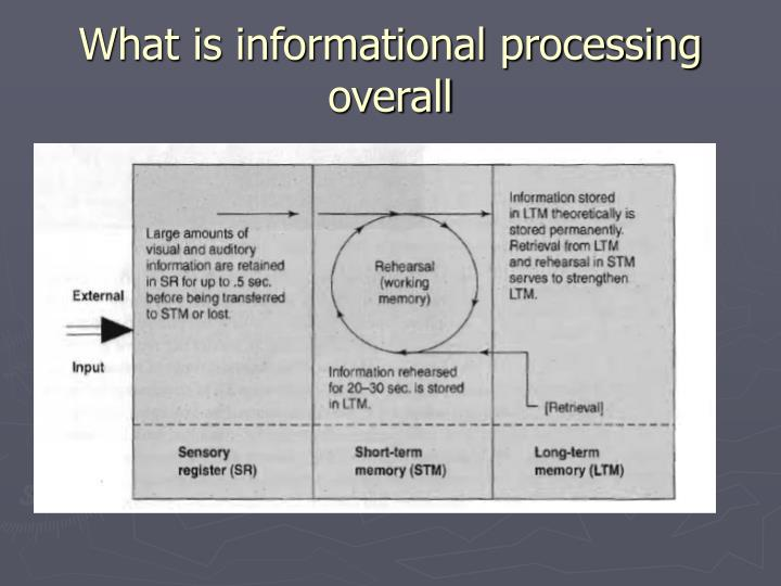 What is informational processing overall