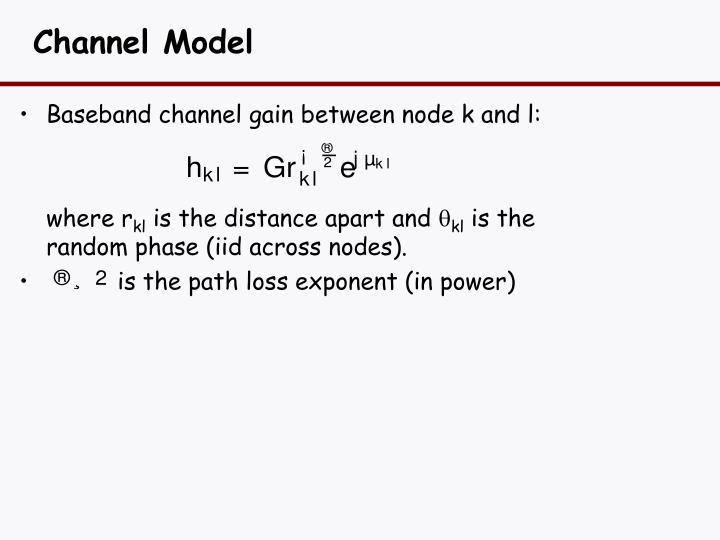 Channel Model