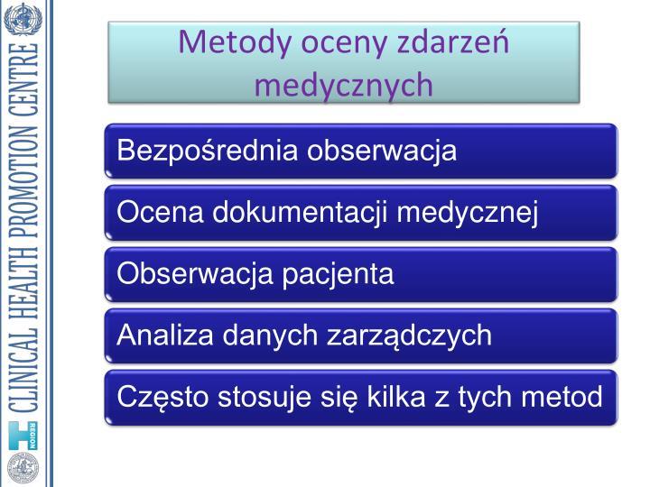 Metody oceny zdarzeń medycznych