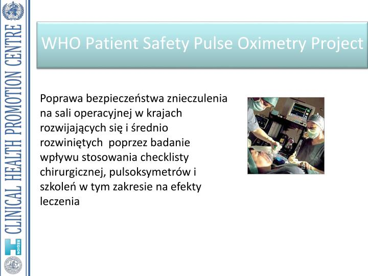 WHO Patient Safety Pulse