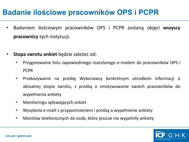 Badanie ilościowe pracowników OPS i PCPR