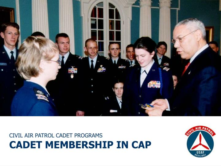 CIVIL AIR PATROL CADET PROGRAMS
