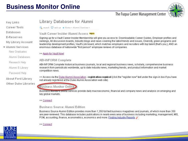 Business Monitor Online