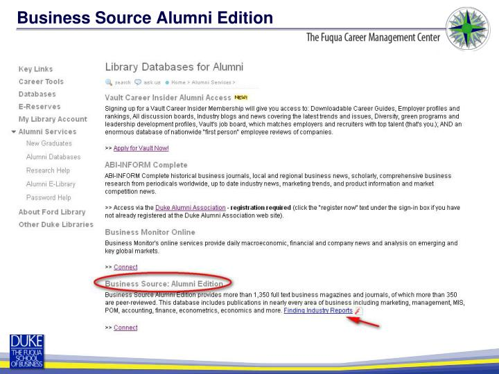 Business Source Alumni Edition