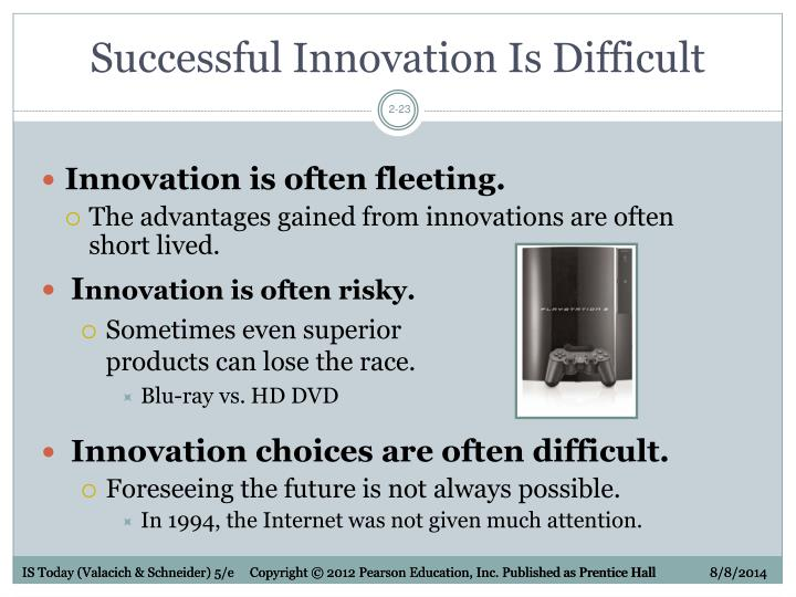 Successful Innovation Is Difficult