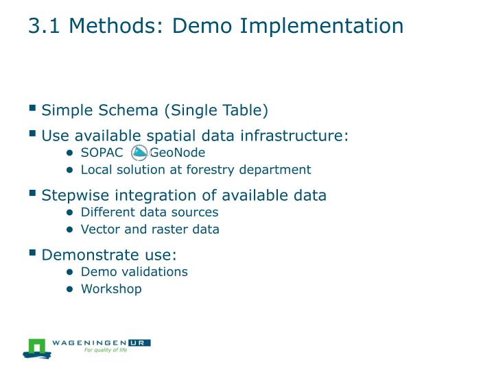 3.1 Methods: Demo Implementation