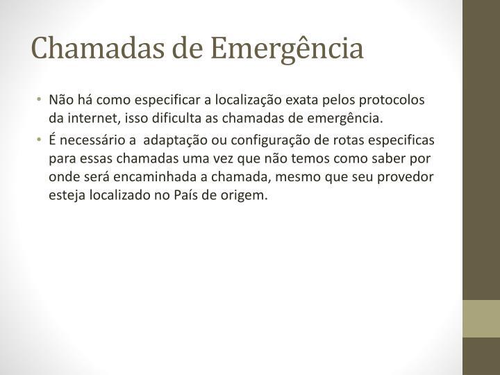 Chamadas de Emergência