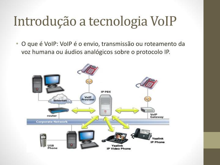 Introdução a tecnologia VoIP